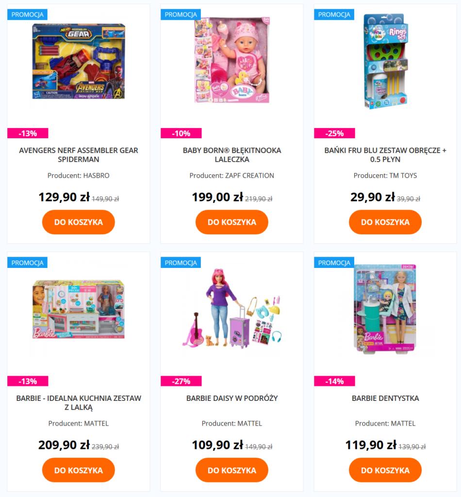 Promocje - zabawki