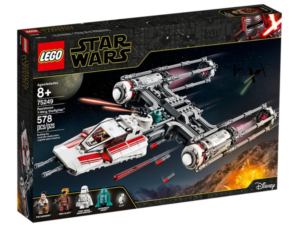 Model LEGO® Star Wars™ Myśliwiec Y-Wing Ruchu Oporu