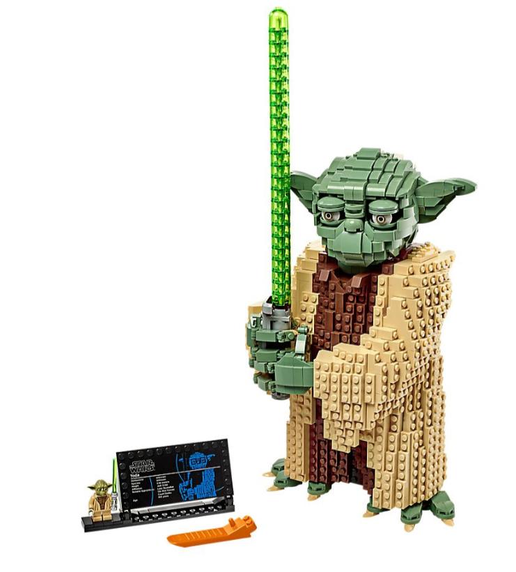 figurka duża, YODA, LEGO, zabawkitotu.pl