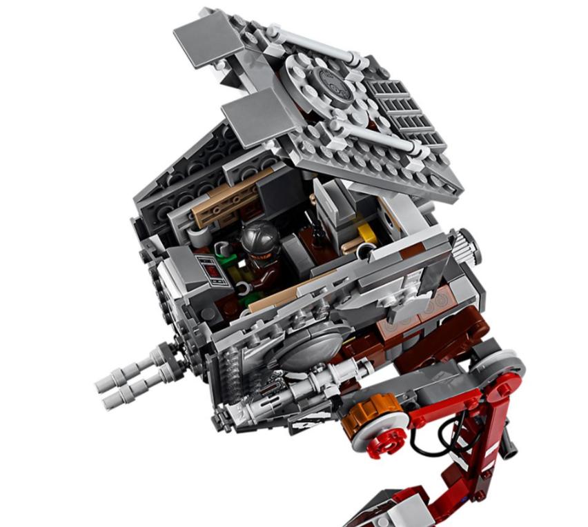"""Wyposażona jest w segmentowane, ruchome nogi, obrotową wieżyczkę, która po otwarciu odsłania pełne szczegółów wnętrze pojazdu z miejscem na minifigurkę, oraz dwa działka. Zestaw zawiera też minifigurki postaci ze świata """"Gwiezdnych wojen"""" — Mandalorianina, Carę Dune oraz dwóch klatooiniańskich najeźdźców — aby rozruszać akcję. W zestawie cztery postacie LEGO® Star Wars™: minifigurki Mandalorianina, Cary Dune oraz dwóch klatooiniańskich najeźdźców. Pojazd LEGO® Star Wars™ AT-ST ma segmentowane, ruchome nogi, obrotową wieżyczkę uruchamianą za pomocą pokrętła, otwieraną osłonę ochraniającą pełen szczegółów kokpit z miejscem na minifigurkę oraz specjalnie zdobione elementy nadające pojazdowi plemienny wygląd. Broń: trzy karabiny blasterowe i blaster. Odgrywaj niesamowite przygody z głośnego serialu telewizyjnego """"Mandalorianin"""", którego akcja rozgrywa się w świecie """"Gwiezdnych wojen"""". To doskonały prezent urodzinowy, bożonarodzeniowy lub po prostu prezent z serii Star Wars™ na każdą okazję Zabawka do budowania szturmowa maszyna krocząca AT-ST LEGO® Star Wars™ ma ok. 25 cm wysokości, 15 cm długości i 13 cm szerokości."""