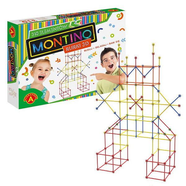 Montino 310 elementów, rurki 3d, zabawki kreatywne