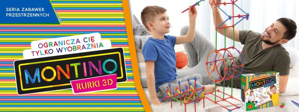 Montino - rurki 3d - zabawki przestrzenne w zabawkitotu.pl