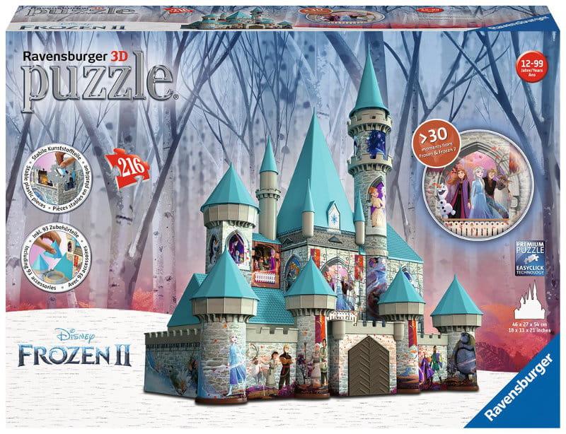 Puzzle 3D Zamek Kraina Lodu 2 - 216 elementów Frozen 2