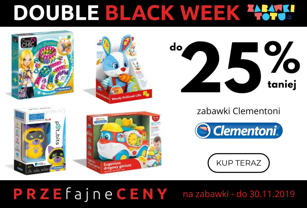 zabawki clementoni black friday week